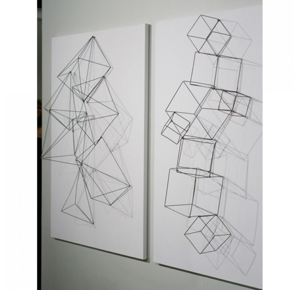 Geometric wire sculpture examples1